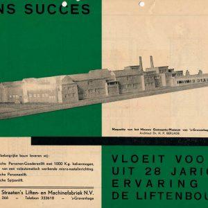 J.C. van Straaten, Gemeentemuseum, Jacobastraat 266, 1934