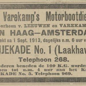 Varekamp, beurtvaart, Fijnjekade 1, 1913