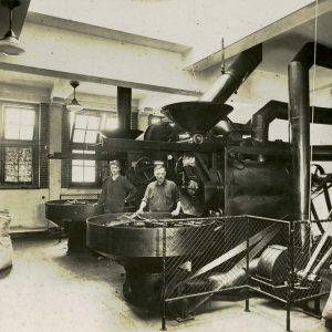 De Veluwe, koffiebranderij, Scheepmakersstraat, 1935