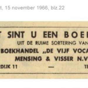 Vijf Vocalen, Kneuterdijk 11, 1966