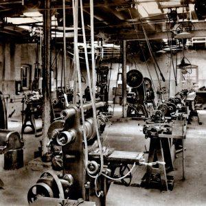 Waldorp Instrumentenfabriek, machinehal, 1919