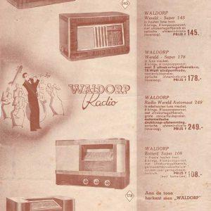 Waldorpflyer, radio's, 1939
