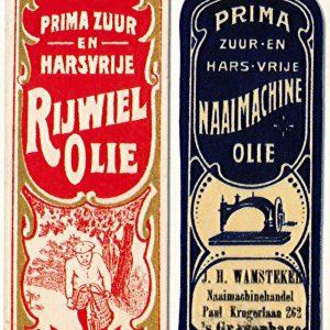 Was de Wit, etiketten, Purmerend, ca. 1910