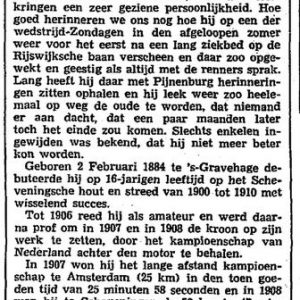 Bertus Waterreus, rijwielen, 1939