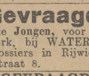 Waterreus, Assendelftstraat 8, 1914