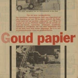 Van Weers, oud papier, Binckhorstlaan, 1974