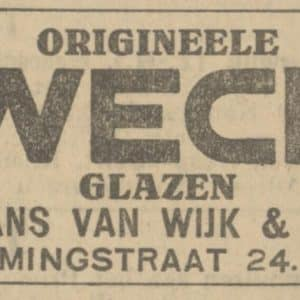 Van Wijk, metaalwaren, Vlamingstraat 24, 1926
