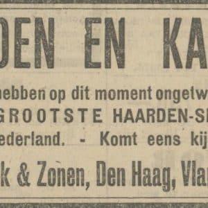 Van Wijk, metaalwaren, Vlamingstraat 24, 1924