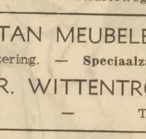Wittentrop, rotan meubelen, Westeinde 75-77, 1957
