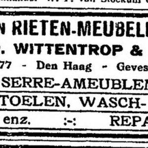 Wittentrop, rieten manden en meubelen, Westeinde 75-77, 1920
