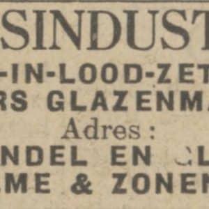Zalme, reclame, 1925