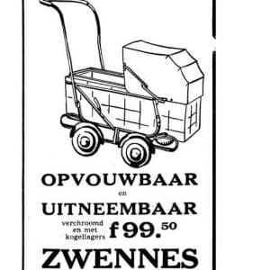 Zwennes, kinderwagens, Brouwersgracht, 1953