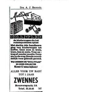 Zwennes, Brouwersgracht, inderwagens, 1961