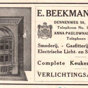 Beekman & Zn, E., Smeden en IJzerwaren  (1876-1980)