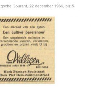 Willigen en Zonen, van, juwelier (1888 - ca. 1980)