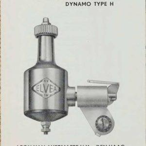 Reclamefolder van de Elvea dynamo, 1956