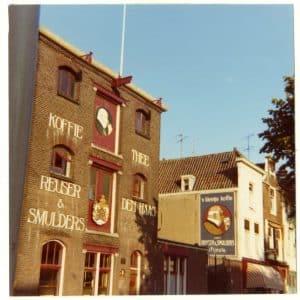 Brouwersgracht 4, koffiebranderij-theepakkerij Reuser & Smulders, ca. 1968