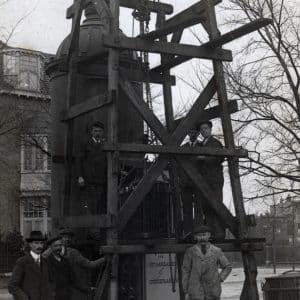 GEB, Stadhouderslaan, hoek Prins Mauritslaan, werkzaamheden trafozuil, 1915