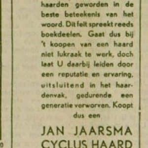 Jaarsma haarden- en kachelfabriek, Jan (1895-1936)