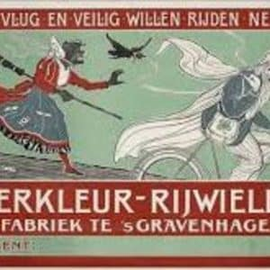 De Vierkleur, Rijwielfabriek, affiche, ca. 1905