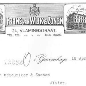 Frans van Wijk, metaahandel, ca. 1910