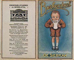 Reclamefolder van De Sierkan over de modelboerderij en kindermelkfabriek Berkendael, ca. 1920.