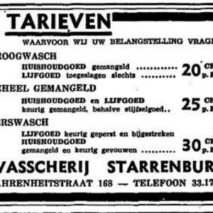Starrenburg, H.A. van, wasserij (1875 - ?)