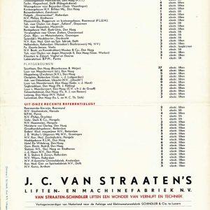 J.C. van Straaten, liften, jaren 50
