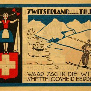 De inspiratie van de wasserij lag duidelijk in Zwitserland.