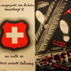 Een folder van De Zwitsersche over stomen en verven.