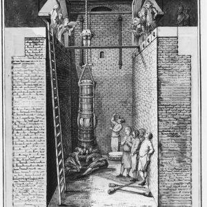Geschutgieterij, tekening,Nieuwe Uitleg, ca. 1760