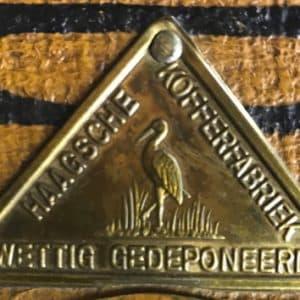 Label van merk Haagsche Kofferfabriek