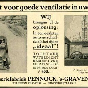 Advertentie Pennock, 1928
