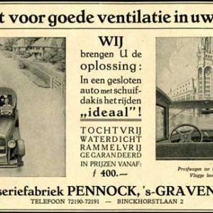 Pennock, carrosseriefabriek, Binckhorstlaan, 1928