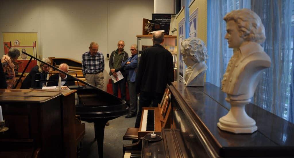 Een kijkje in de pianoverzameling van de Stichting Pianobouw Nederland