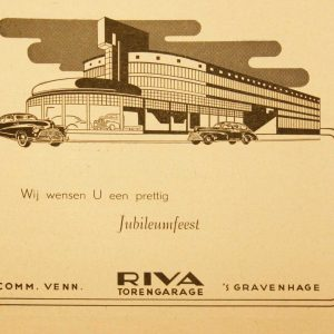 Reclame, RIVA, Torenstraat, 1949