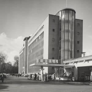 Shell, BIM-kantoor, Wassenaarseweg, benzinestation, 1948