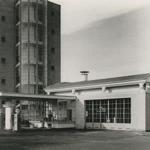 Shell, BIM-kantoor Wassenaarseweg, benzinestation, 1940