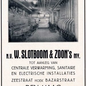 Centrale Verwarming, Slotboom & Zoon, Zeestraat, 1933