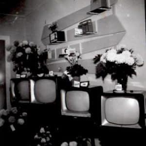 Stadhouder, elektronicawinkel, Pijnboomstraat, 1958
