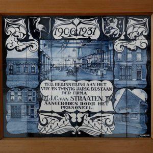 J.C. van Straaten, jubileum tegeltableau, 1931